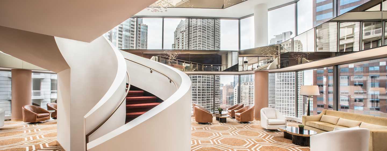 Conrad Chicago Hotel, USA – Zweistöckiges Atrium