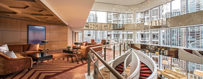 Conrad Chicago Hotel, USA – Zweistöckiges, verglastes Atrium