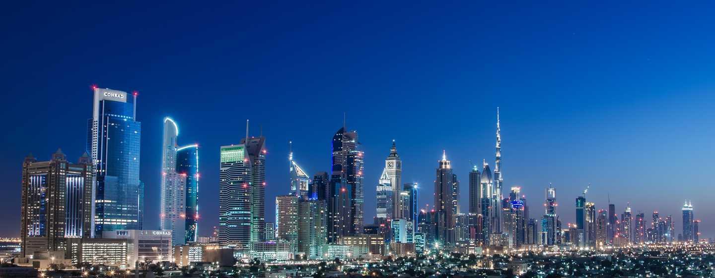 Conrad Dubai Hotel, VAE– Ausblick auf die Skyline