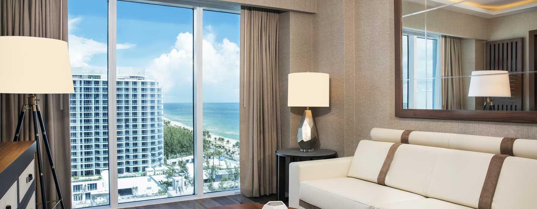 Conrad Fort Lauderdale Beach, USA– Wohnzimmer der Suite