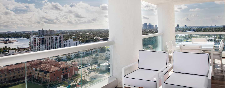 Conrad Fort Lauderdale Beach, USA– Terrasse mit Meerblick