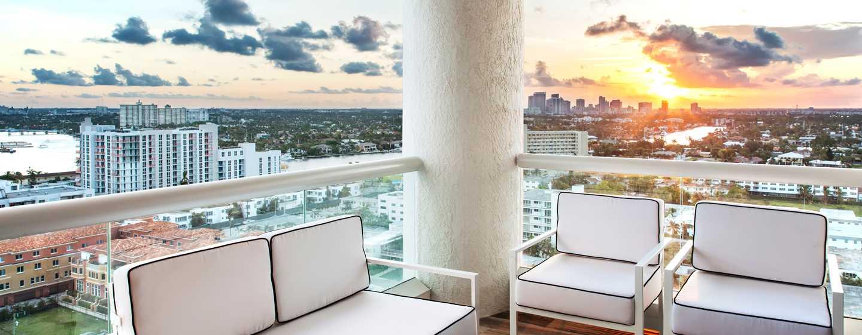 Conrad Fort Lauderdale Beach, USA– Blick von der Terrasse