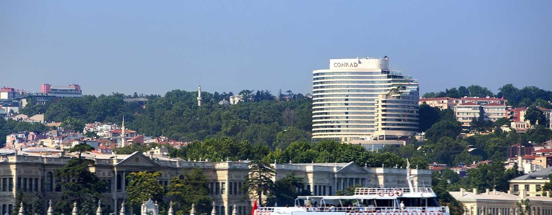 Blick auf Hotel vom Bosphorus
