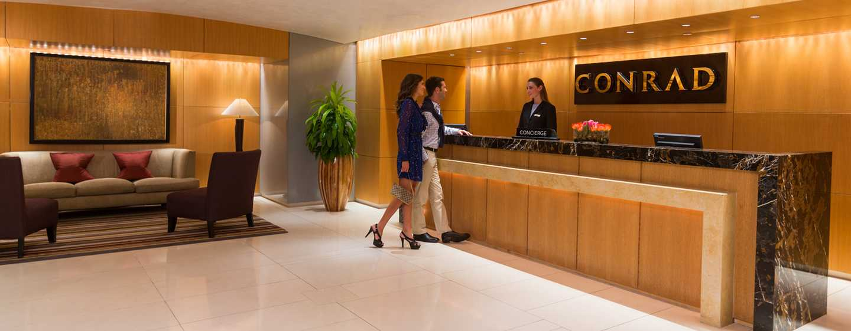 Conrad Miami Hotel, Florida, USA– Empfang