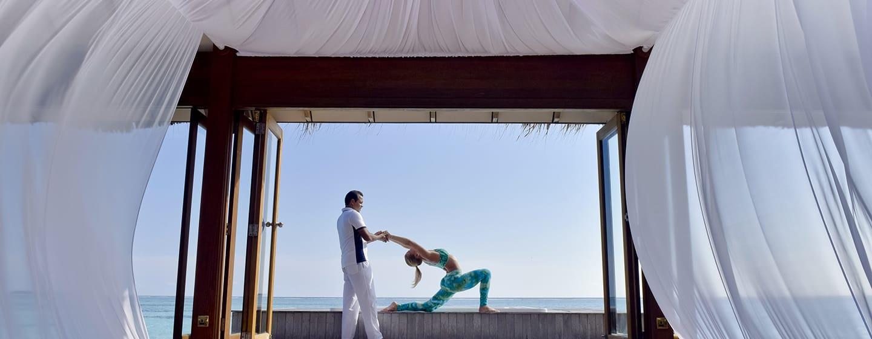 Conrad Maldives Rangali Island Hotel, Malediven – Finden Sie zurück zum Gleichgewicht mit unseren Yoga-Kursen.