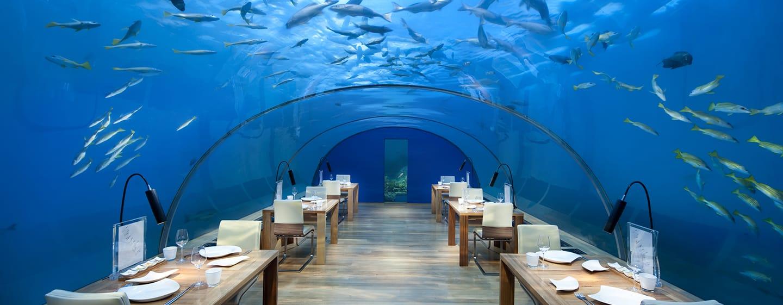 Conrad Maldives Rangali Island Hotel, Malediven – Unterwasser-Restaurant Ithaa