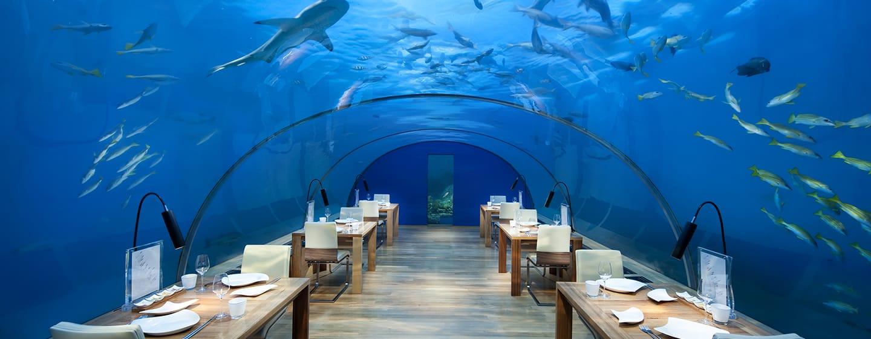 Conrad Maldives Rangali Island Hotel, Malediven – Unterwasser-Restaurant
