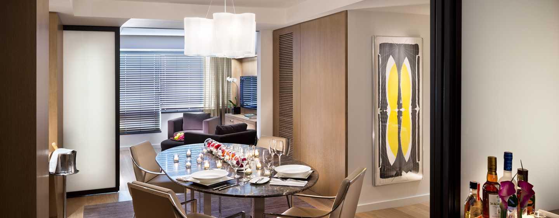 Conrad New York Hotel, USA– Wohn- und Essbereich der Conrad Suite