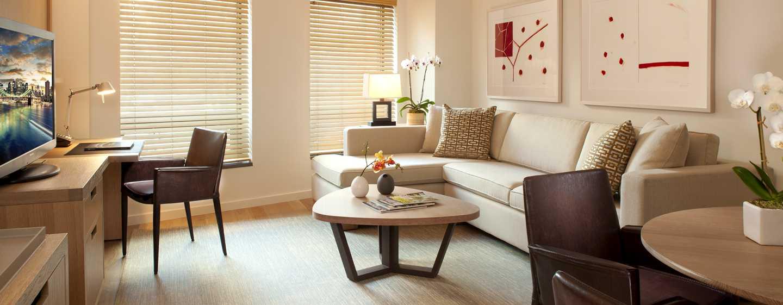 Conrad New York Hotel, USA– Wohnzimmer der Luxus Suite