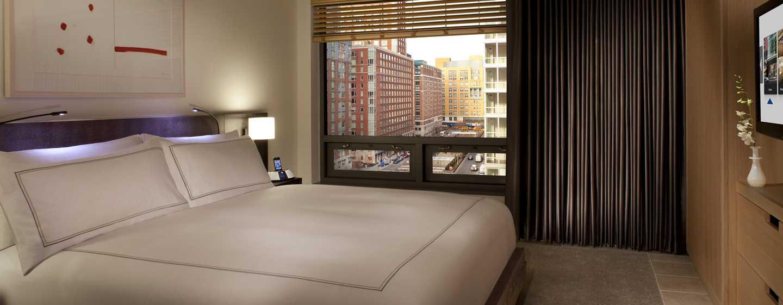 Conrad New York Hotel, USA– Schlafzimmer der Deluxe Suite