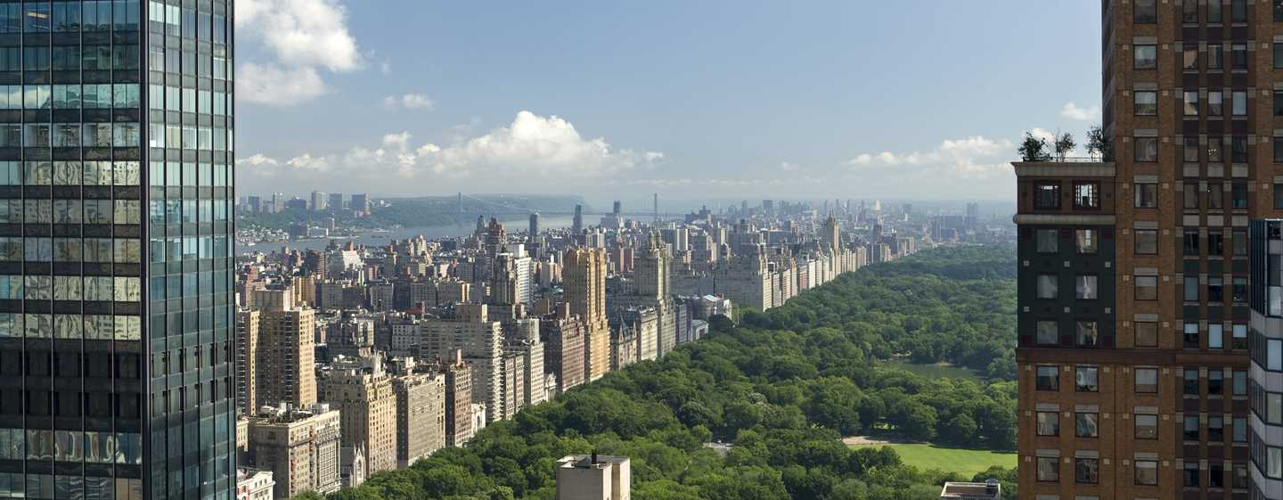 The London NYC, New York, USA – Blick auf den Central Park