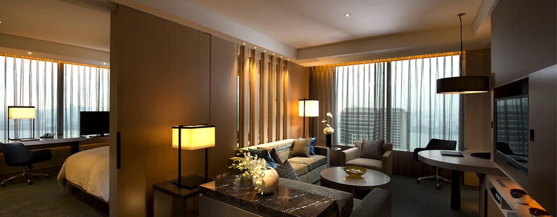 Conrad Seoul Hotel, Südkorea– Conrad Executive Eck-Suite mit Kingsize-Bett