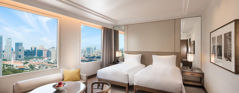 Conrad Centennial Singapore Hotel– Zweibettzimmer mit Blick auf Kallang