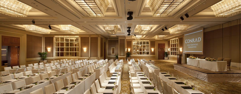Conrad Centennial Singapore Hotel, Singapur– Ballsaal mit parlamentarischer Bestuhlung