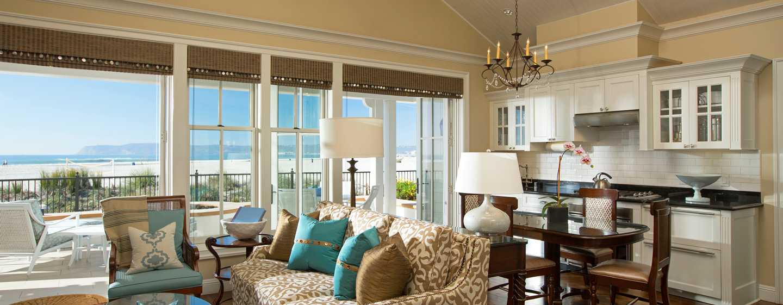 Beach Village at The Del, Curio Collection by Hilton Hotel, Kalifornien, USA– Cottage Suite am Strand