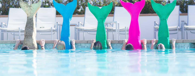 Beach Village at The Del, Curio Collection by Hilton Hotel, Kalifornien, USA– Meerjungfrauen-Fitnesskurs