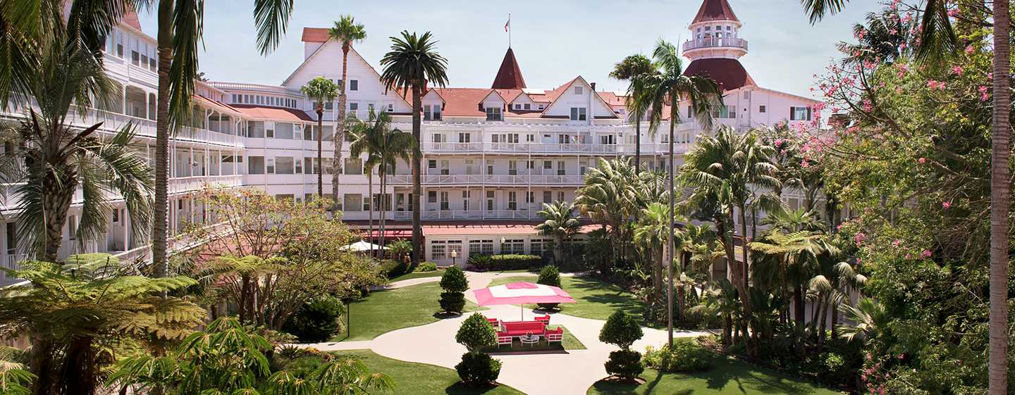 Hotel del Coronado, Curio Collection by Hilton, Kalifornien, USA – Gartenterrasse