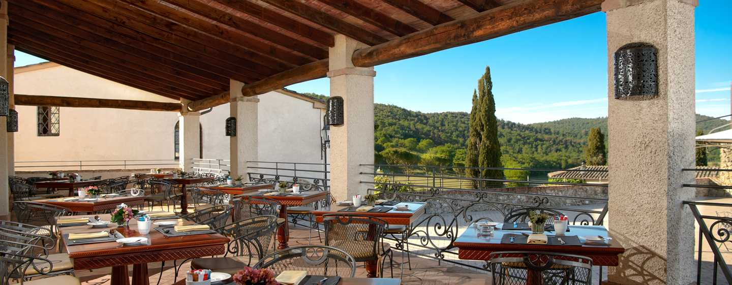 La Bagnaia Golf & Spa Resort Siena, Curio Collection by Hilton, Italien – Restaurant La Voliera
