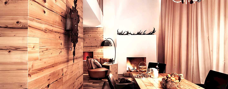 Grand Tirolia Hotel Kitzbühel, Curio Collection by Hilton, Österreich– Essbereich der Präsidenten Suite