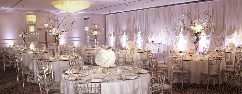 Doubletree Hotel Chicago Magnificent Mile, USA – Hochzeitsbankettbestuhlung