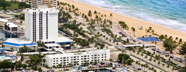 Bahia Mar Fort Lauderdale Beach - a DoubleTree by Hilton Hotel, USA– Luftaufnahme