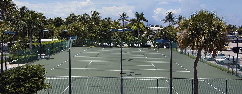 Bahia Mar Fort Lauderdale Beach - a DoubleTree by Hilton Hotel, USA– Tennisplätze
