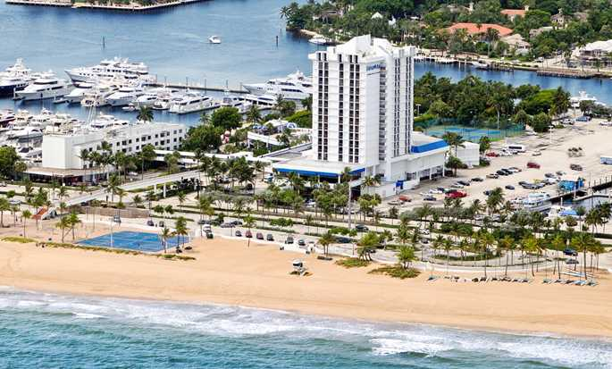 Bahia Mar Fort Lauderdale Beach - a DoubleTree by Hilton Hotel, USA – Luftaufnahme des Resorts