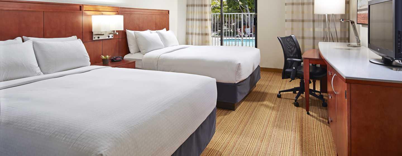 Hotel MdR Marina del Rey - a DoubleTree by Hilton, Kalifornien, Vereinigte Staaten - Zimmer mit zwei Queen-Size-Betten