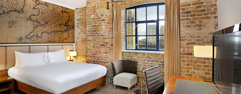 DoubleTree by Hilton Hotel London - Docklands Riverside, Großbritannien - Deluxe Zimmer mit Queen-Size-Bett