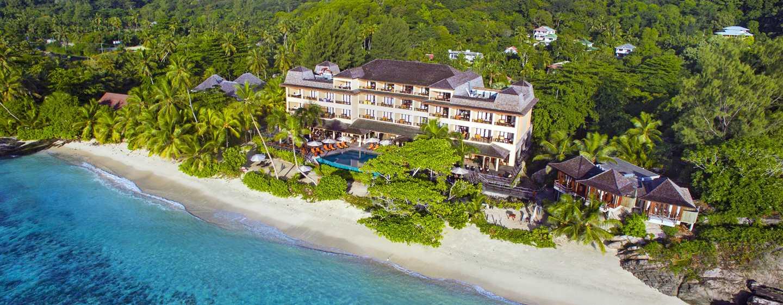 DoubleTree Resort& Spa by Hilton Hotel Seychelles– Allamanda, Seychellen– Luftansicht