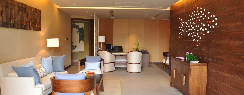 DoubleTree Resort by Hilton Hotel Sanya Haitang Bay, China– Empfangsbereich des Spa