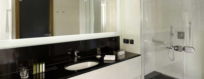 Die modernen Badezimmer im Hotel werden Sie begeistern