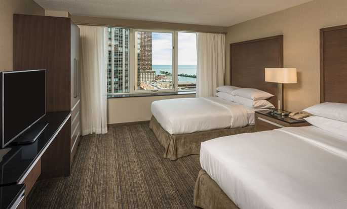 Embassy Suites Chicago Downtown Magnificent Mile Hotel, Illinois, USA – Doppelzimmer mit Seeblick