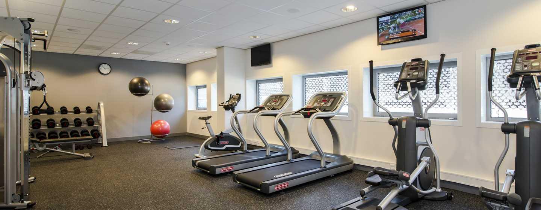 Im Fitnessstudio des Hotels kommt das Kraft- und Cardiotraining nicht zu kurz