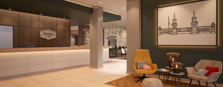 Hampton by Hilton Berlin City East Side Gallery Hotel, Deutschland – Rezeption