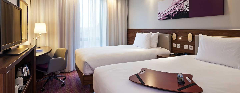 Hampton by Hilton London Waterloo Hotel, Großbritannien – Zweibettzimmer mit Stadtblick