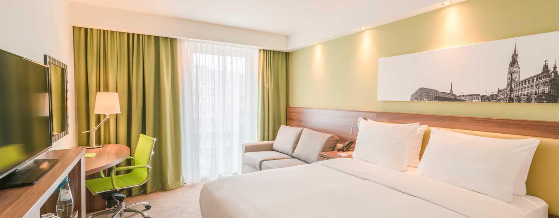Hampton by Hilton Munich City West Hotel, Deutschland– Gästezimmer mit Queen-Size-Bett