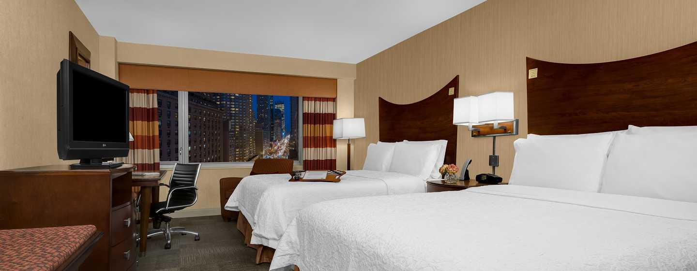 Hampton Inn Manhattan-Times Square North Hotel, New York, USA– Zimmer mit zwei Queen-Size-Betten