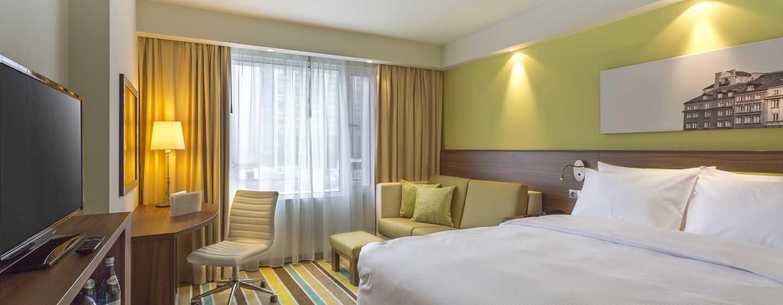 Nach einem erlebnisreichen Tag in Warschau, können Sie in den hellen und freundlichen Zimmer entspannen