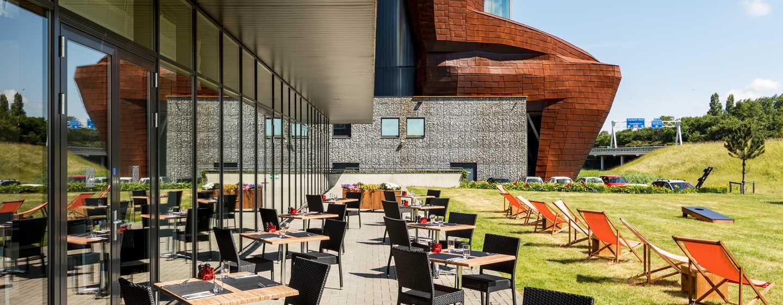 Hilton Garden Inn Leiden, Niederlande– Terrasse