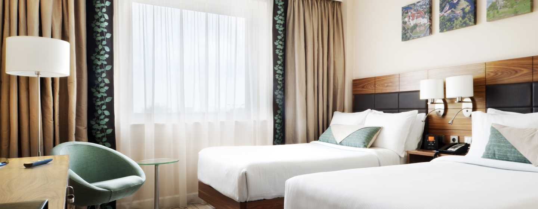 Auf Ihrer Reise zu zweit können Sie hohen Schlafkomfort auf den zwei Einzelbetten genießen