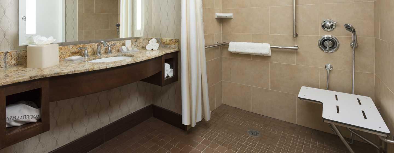 Hilton Garden Inn Washington DC/Georgetown hotel - 1 barrierefreies Badezimmer mit