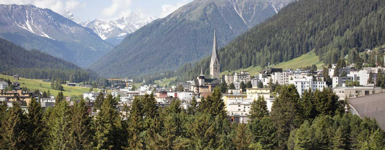 Hilton Garden Inn Davos Hotel, Davos, Schweiz– Blick vom Hotel