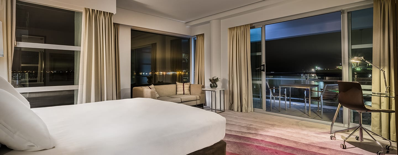 Hilton Auckland Hotel, Neuseeland– Deluxe Plus Zimmer mit Hafenblick