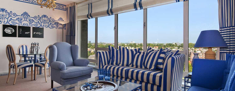 Hilton Amsterdam Hotel, Niederlande– Schlafzimmer der Neptune Suite