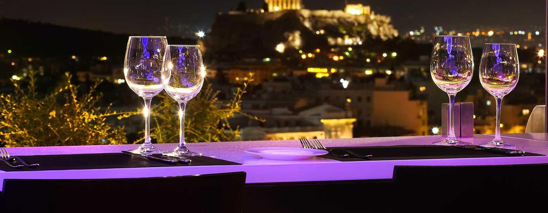 Hilton Athens – Ausblick vom Galaxy Bar & Restaurant