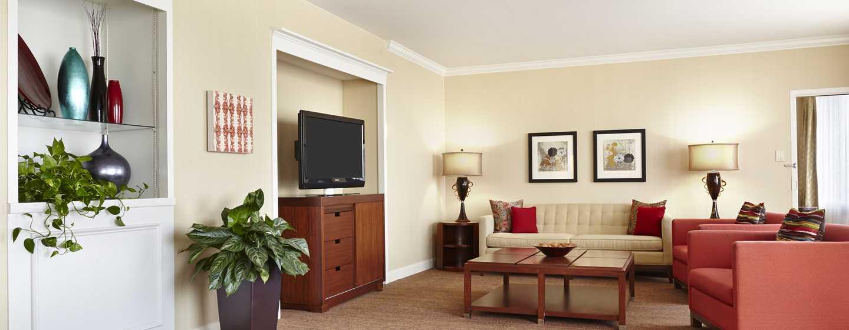 Hilton Atlanta Hotel, Georgia, USA. – Wohnbereich