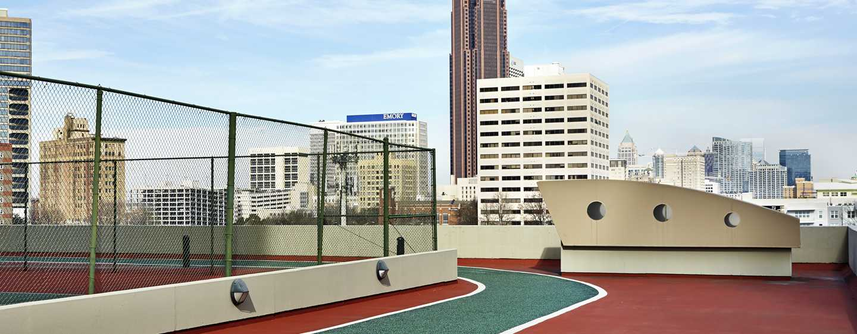 Hilton Atlanta Hotel, Georgia, USA. – Joggingpfad