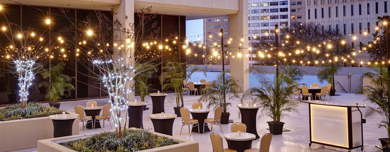 Hilton Atlanta Hotel, Georgia, USA. – Hof mit Pavillon