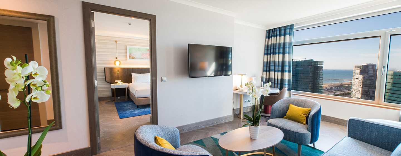 Hilton Diagonal Mar Barcelona Hotel, Spanien– Suite mit einem Schlafzimmer
